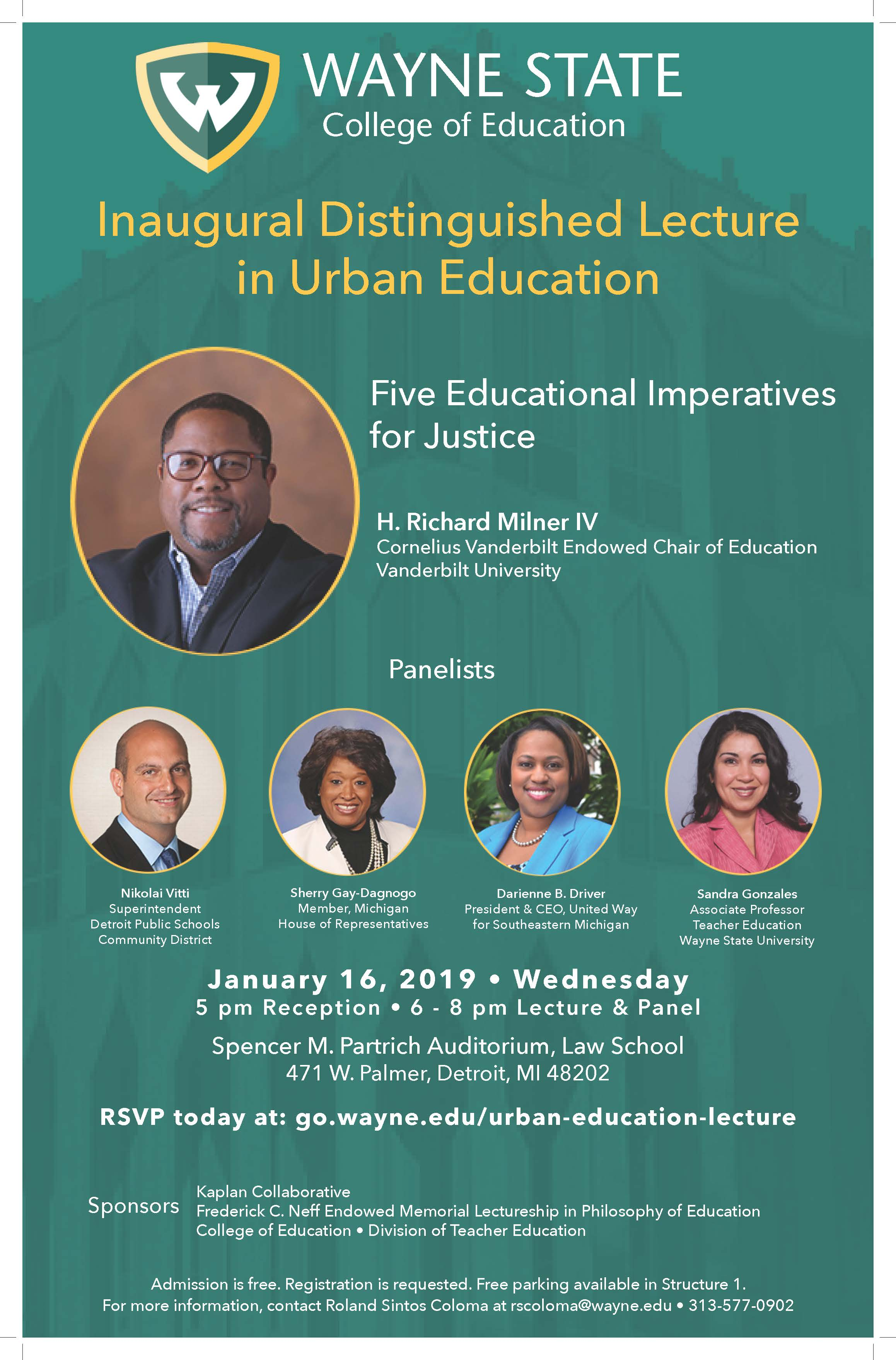 Wayne State University College of Education hosts inaugural Distinguished Lecture in Urban Education