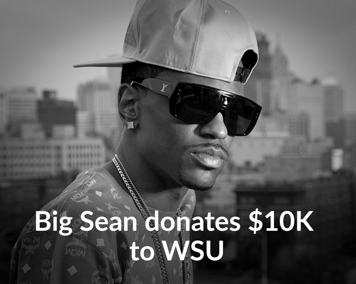 Hip-hop star Big Sean donates $10,000 to Wayne State