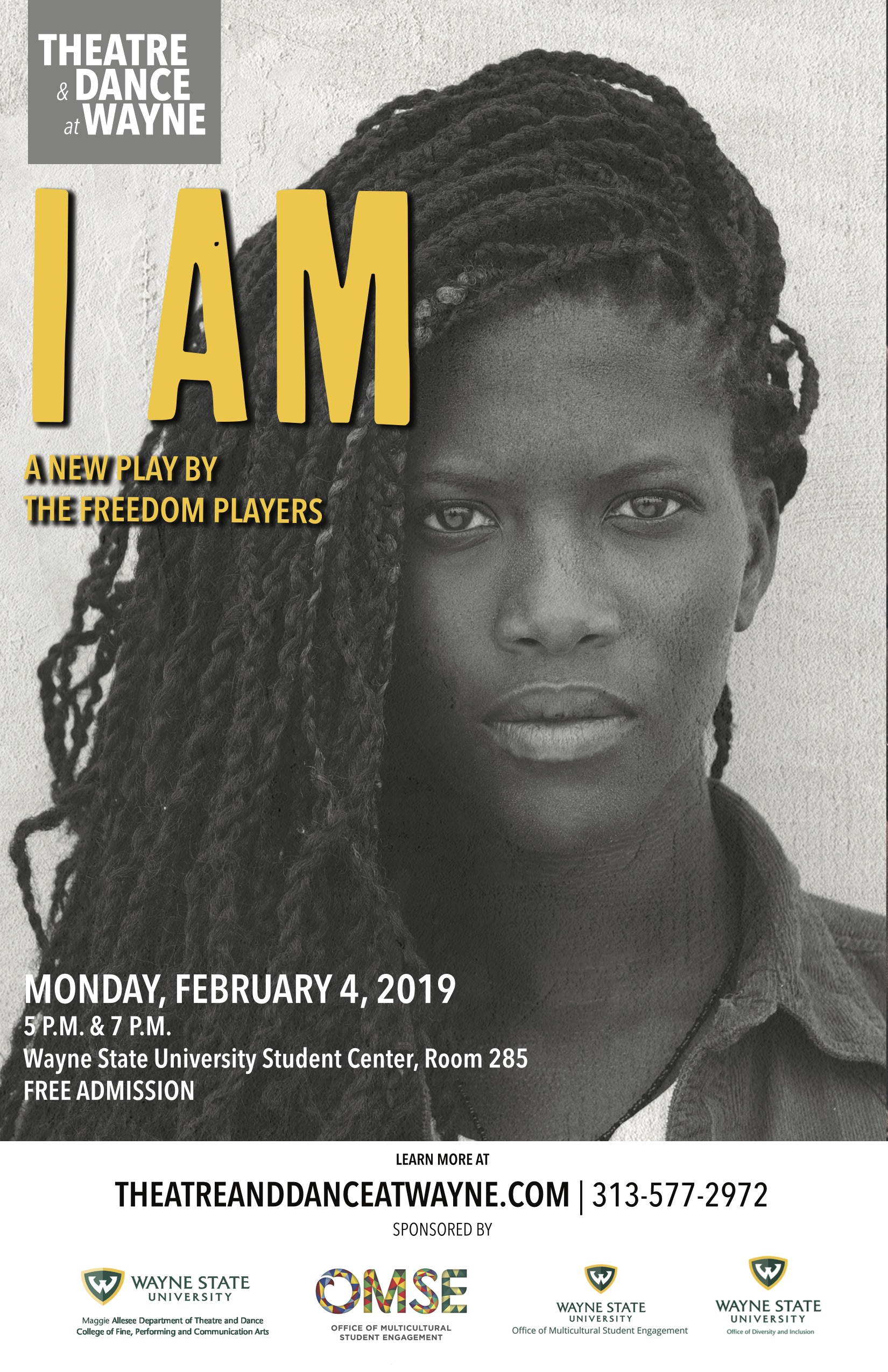 """Department of Theatre and Dance to host new play, """"I Am"""""""
