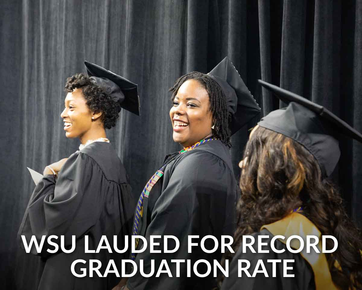 WSU honored for record graduation rate