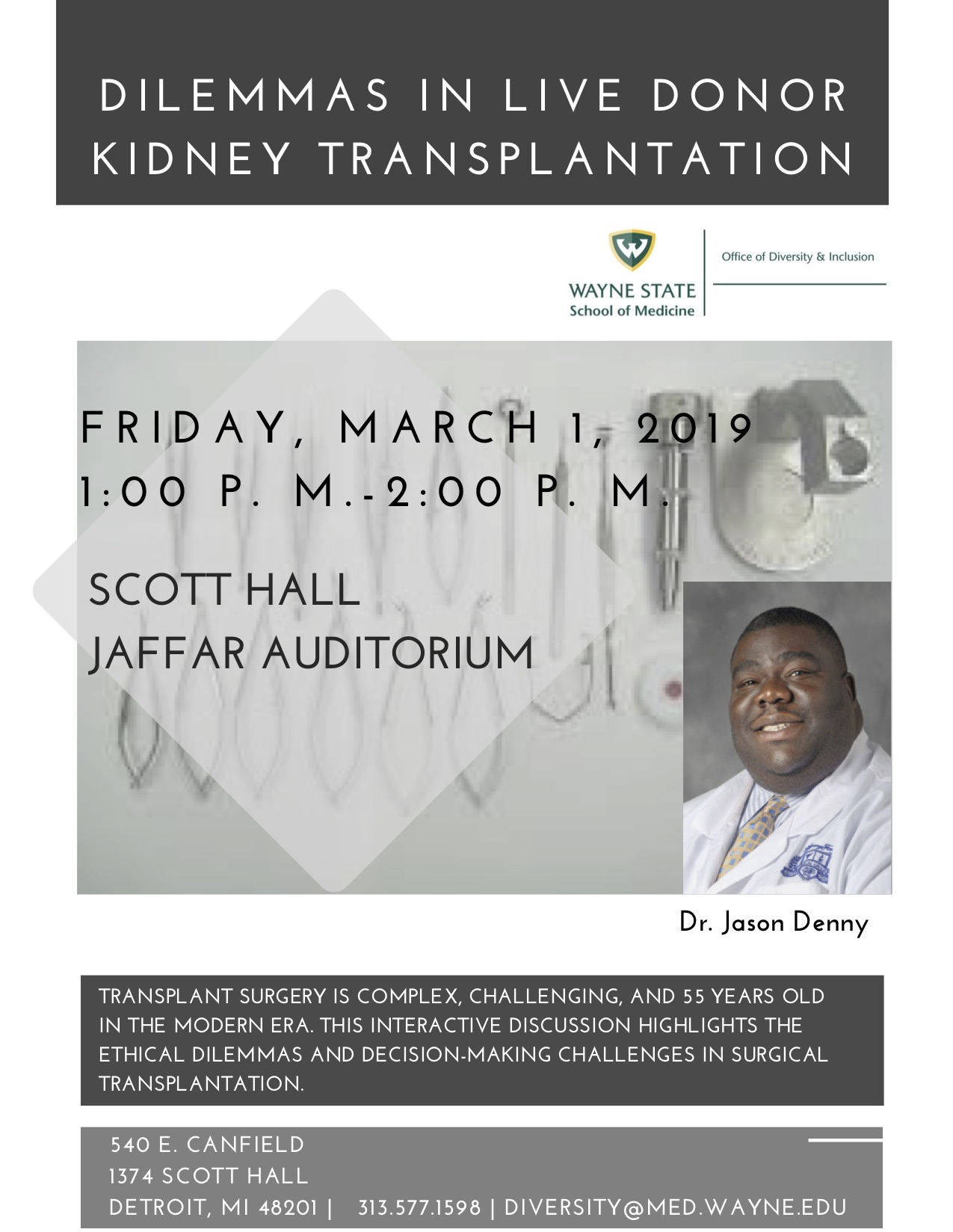 Surgeon to discuss complexity of ethics in transplant surgery