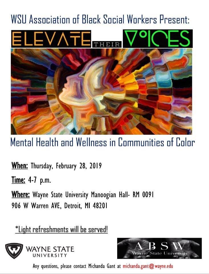 Elevate Their Voices: Mental Health and Wellness in Communities of Color
