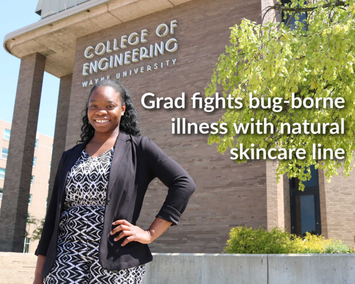 College of Engineering graduate curates line of all-natural skincare products to fight insect-borne illness
