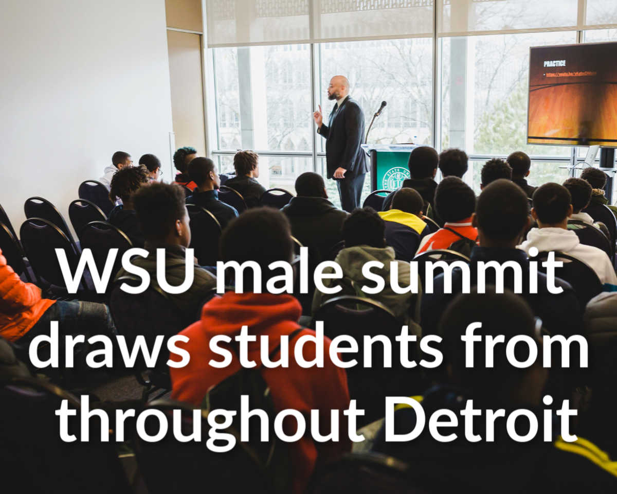WSU draws more than 150 high schoolers for male summit
