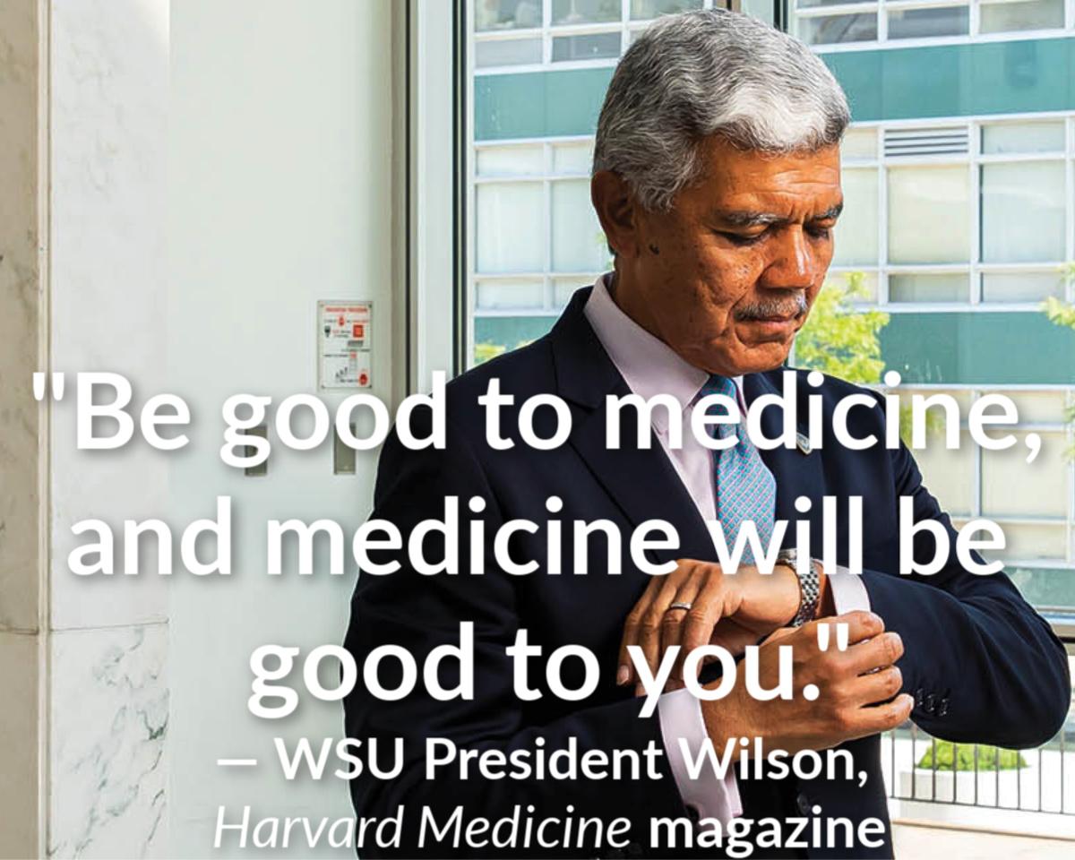 President Wilson's article in Harvard Medical School magazine