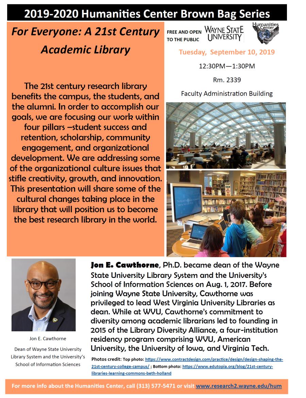 2019-20 Humanities Center Brown Bag series