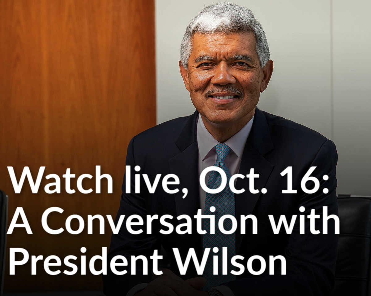 Tune in to A Conversation with President Wilson