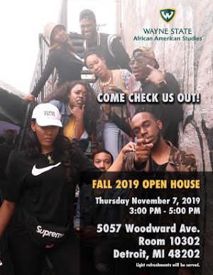Department of African American Studies Open House