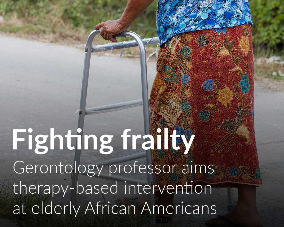 Institute of Gerontolgy professor targets fraily in black Americans
