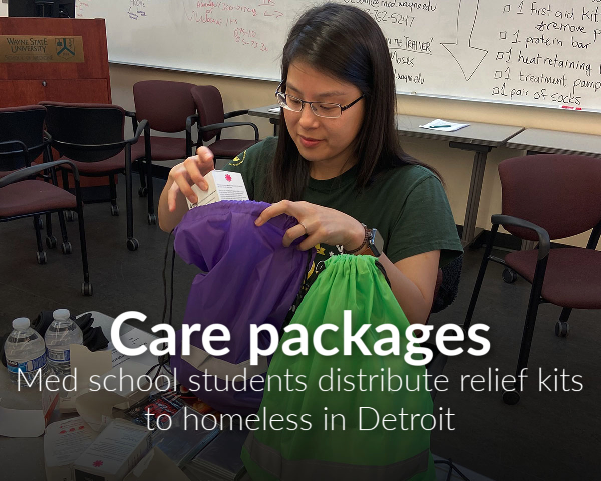 Three med student organizations collaborate to help homeless