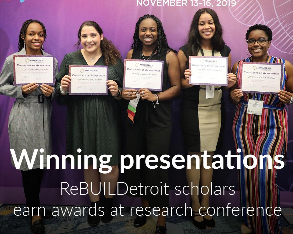 ReBuild scholars honored