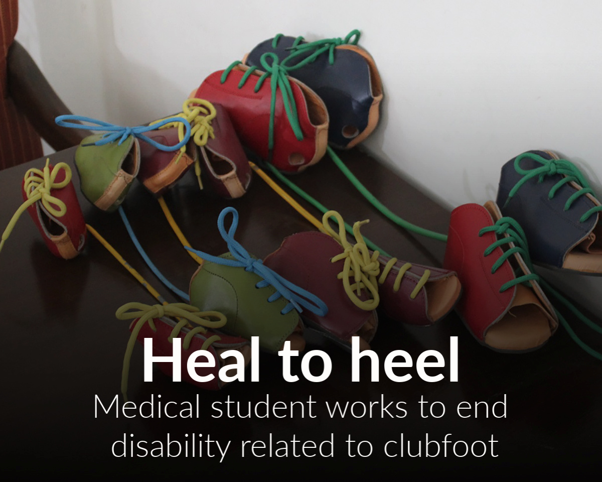 Medical student makes healing little feet his mission