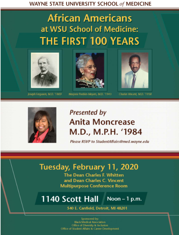 African Americans at WSU School of Medicine: The First 100 Years