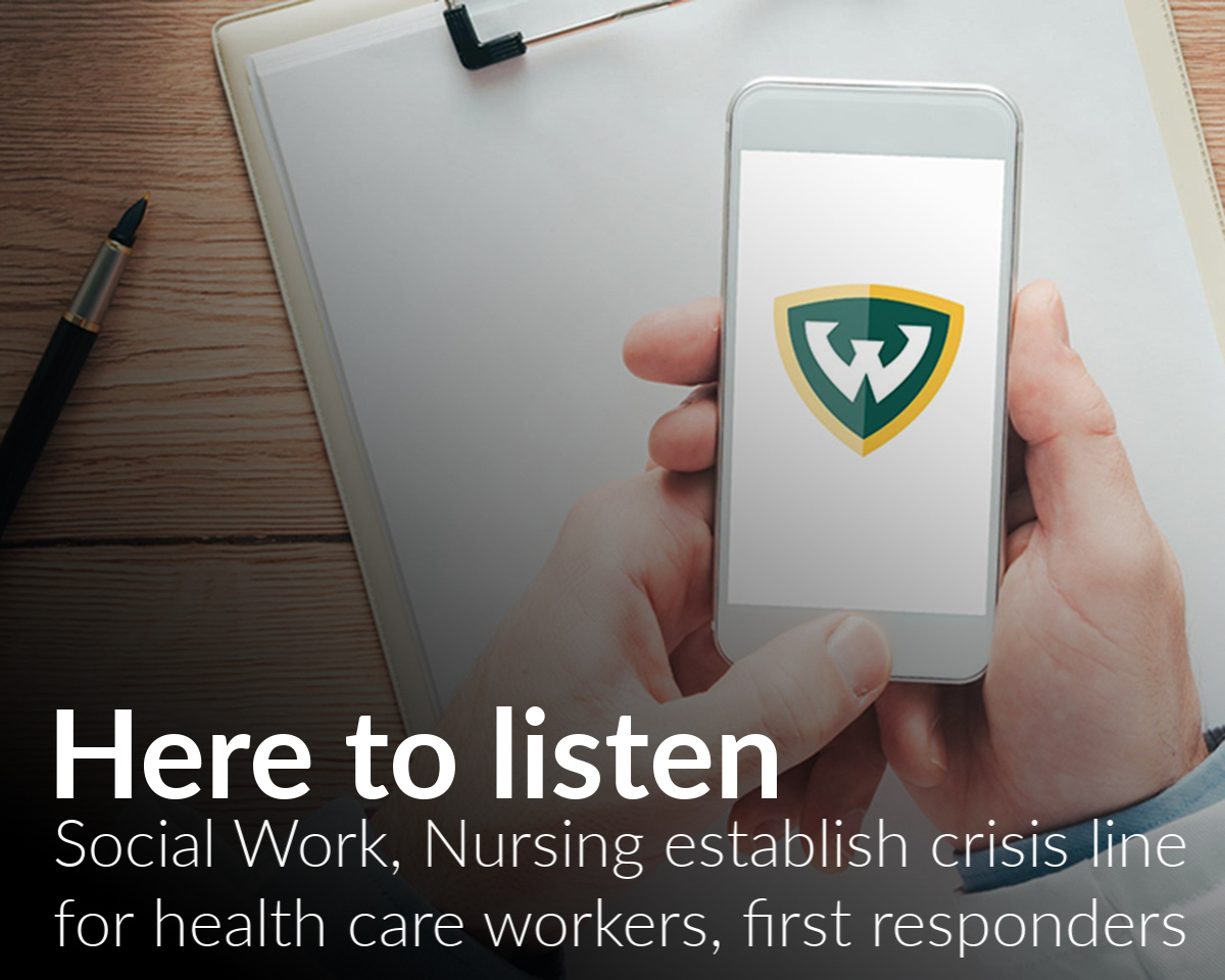 School of Social Work, College of Nursing collaborate on crisis hotline for healthcare workers and first responders in Detroit