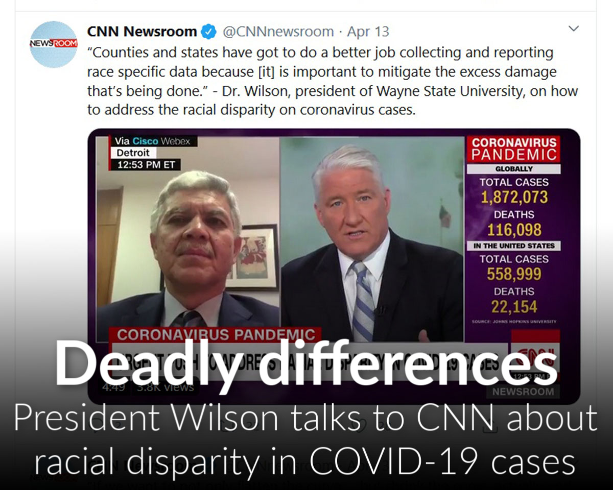 Wilson talks to CNN about racial disparity in COVID-19 cases