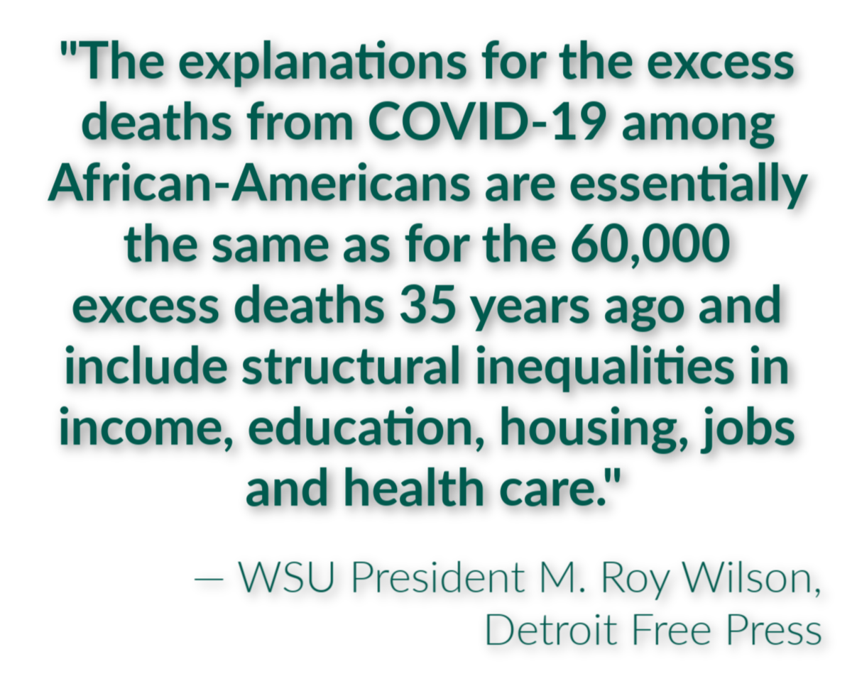 President Wilson pens op-ed about racial disparities in coronavirus outbreak