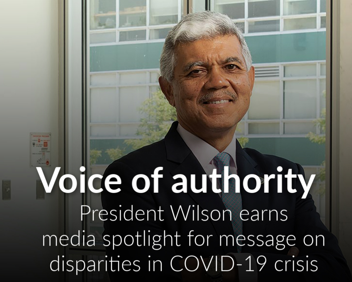 President M. Roy Wilson drawing media attention for expert analysis of COVID-19 crisis