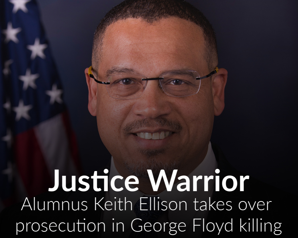 WSU alum Keith Ellison takes charge of prosecution of police officers accused of murdering George Floyd