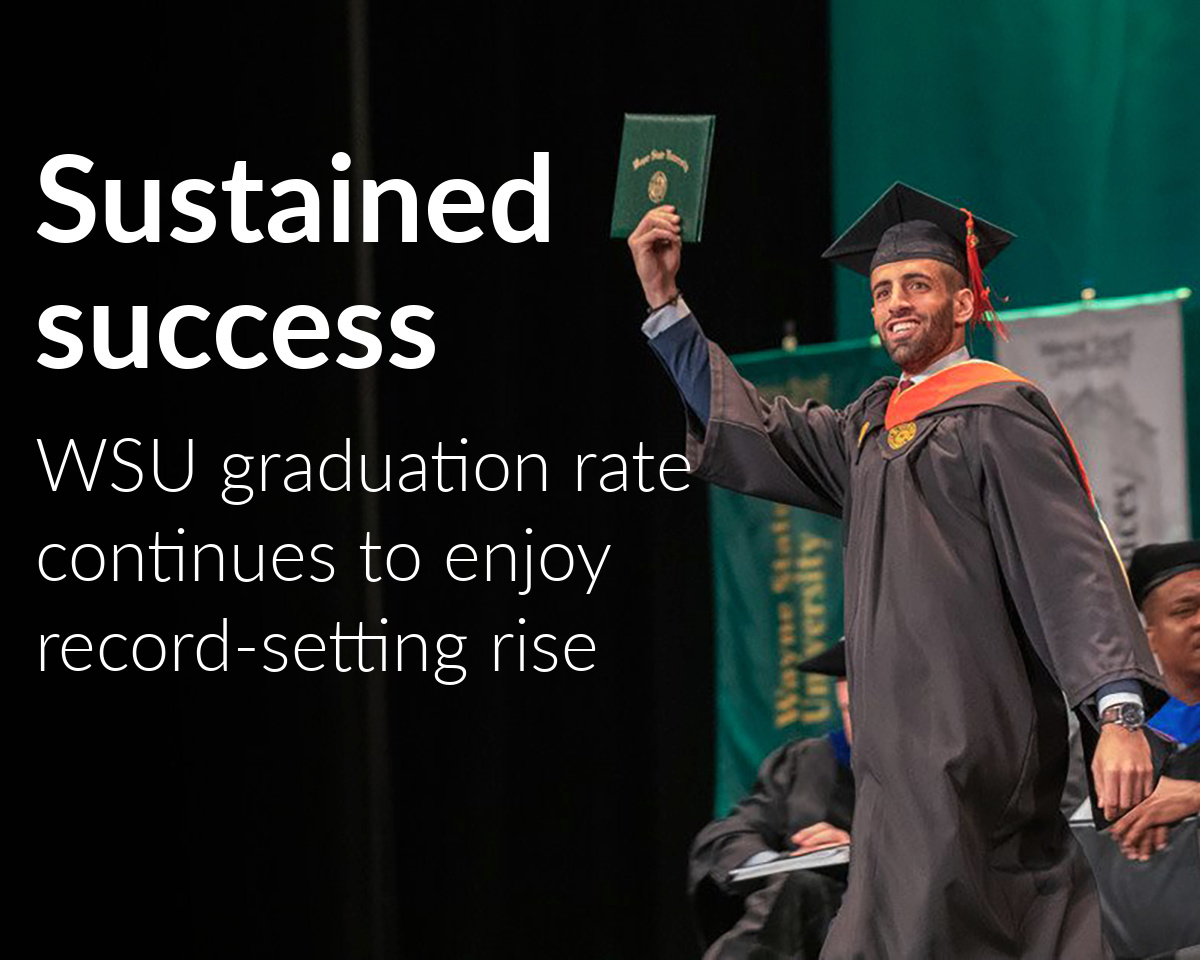Wayne State graduation rate continues record-setting improvement