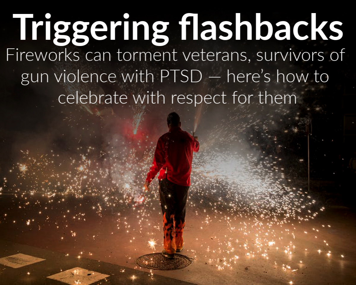 Fireworks can torment veterans and survivors of gun violence with PTSD – here's how to celebrate with respect for those who served