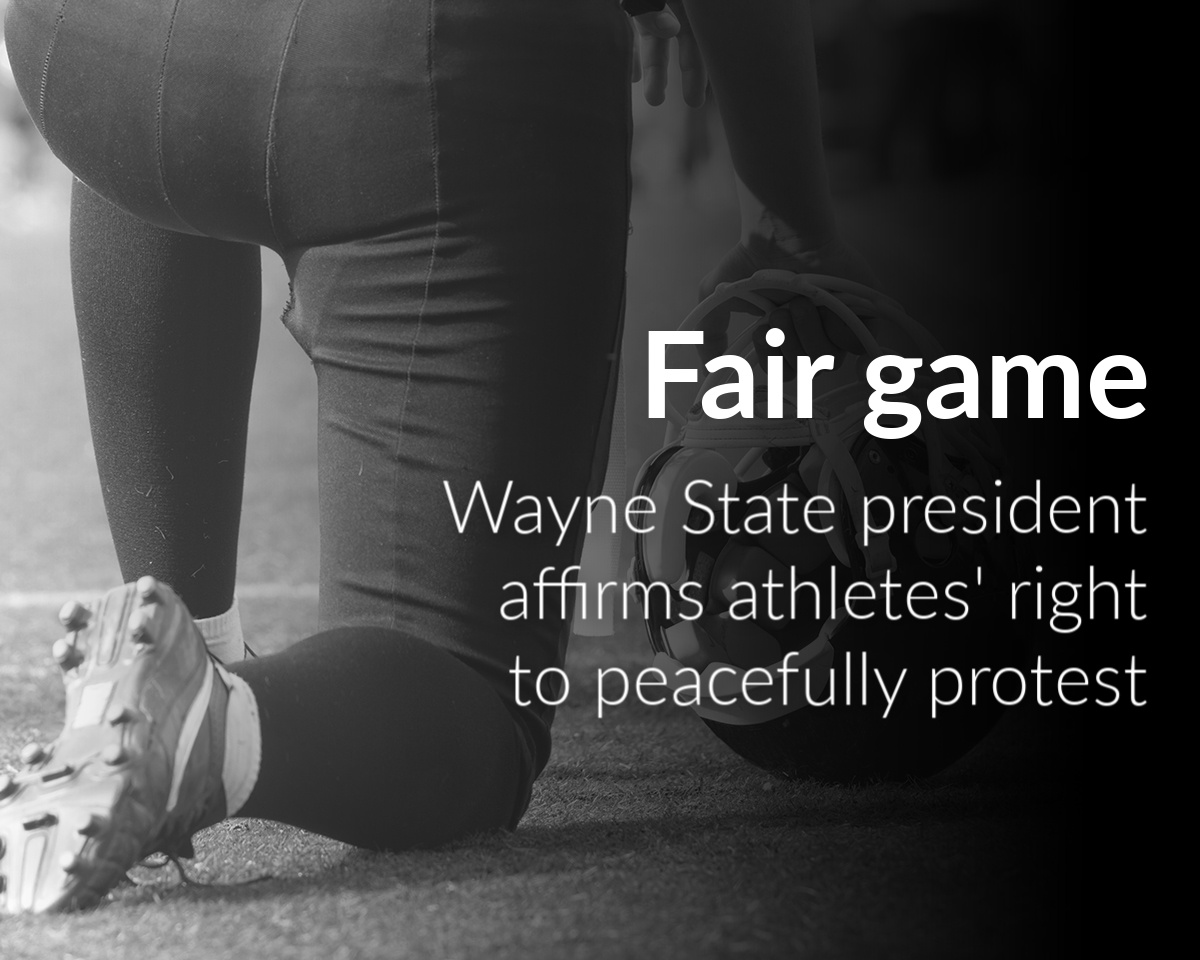 President Wilson affirms athletes' right to peacefully protest, in uniform and out