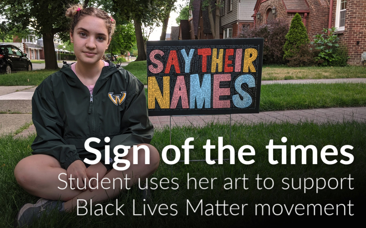 Student uses her art to support Black Lives Matter movement