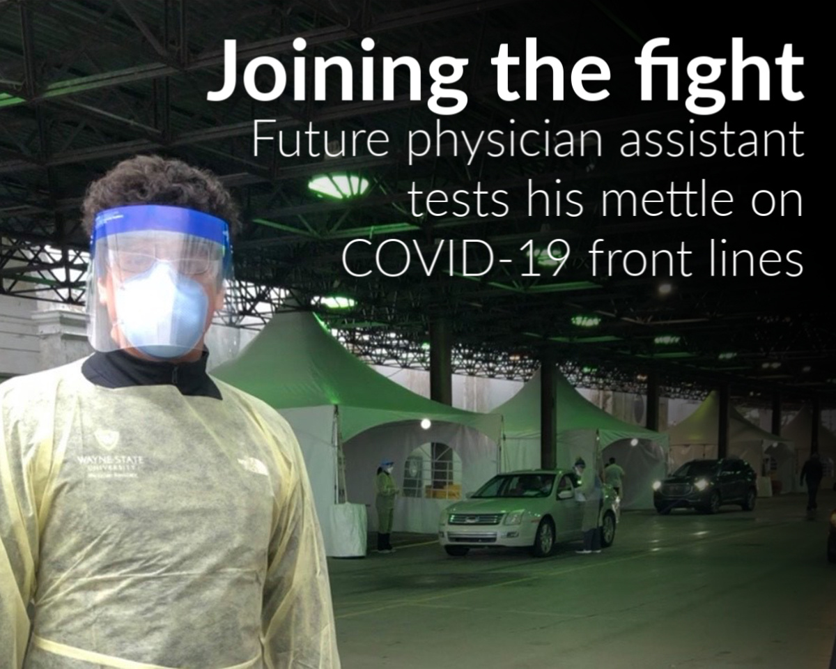 Future physician assistant Joe Tocco tests his mettle on COVID-19 front lines