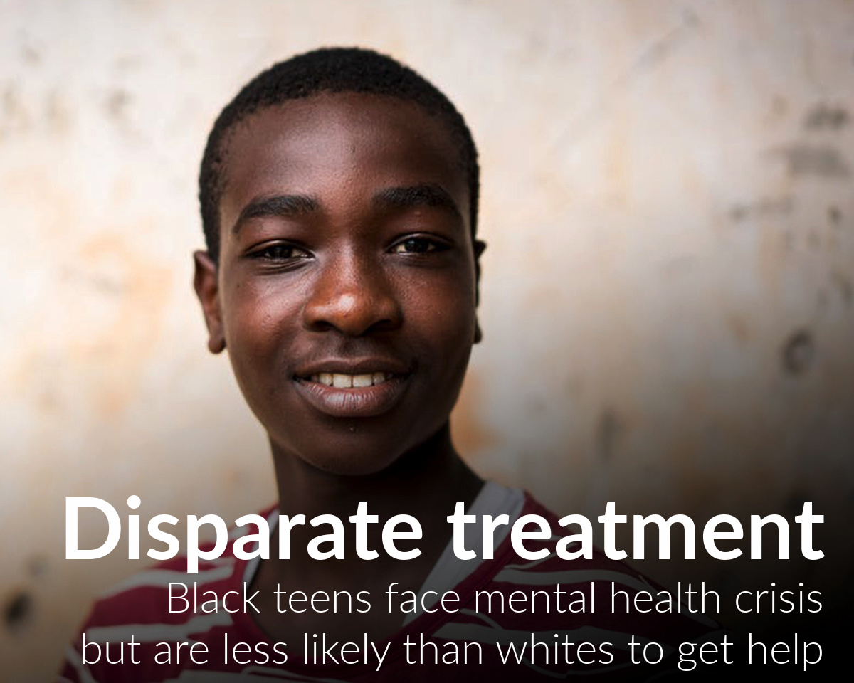 African American teens face mental health crisis but are less likely than whites to get treatment
