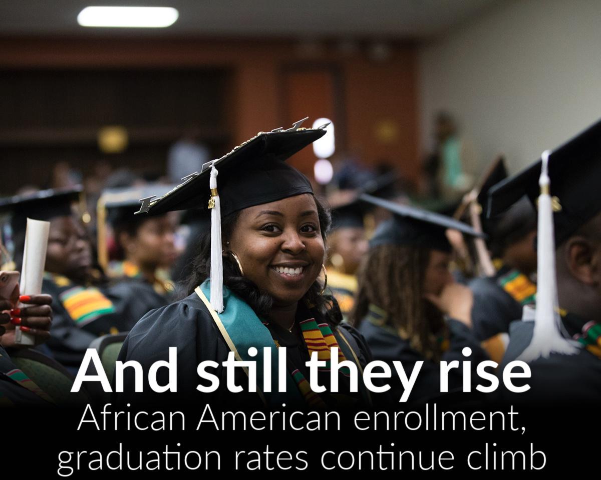 Black enrollment, graduation rates continue to rise
