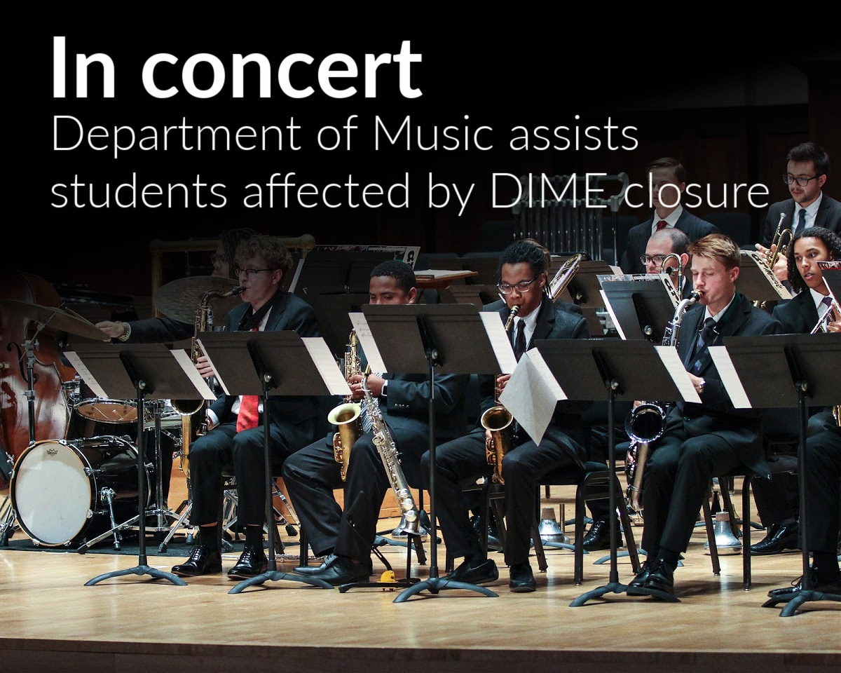Wayne State's Department of Music assists students affected by DIME closure