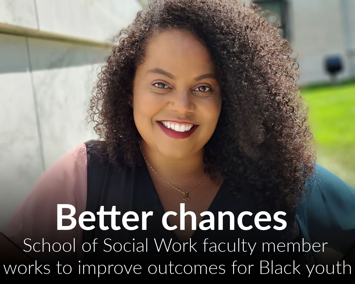 Falling through the cracks: new Social Work faculty member works to improve outcomes for Black youth