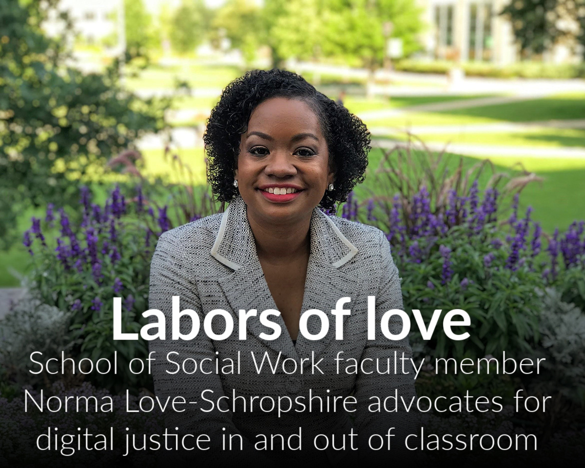 Norma Love-Schropshire, DSW, advocates for digital justice in and out of the classroom