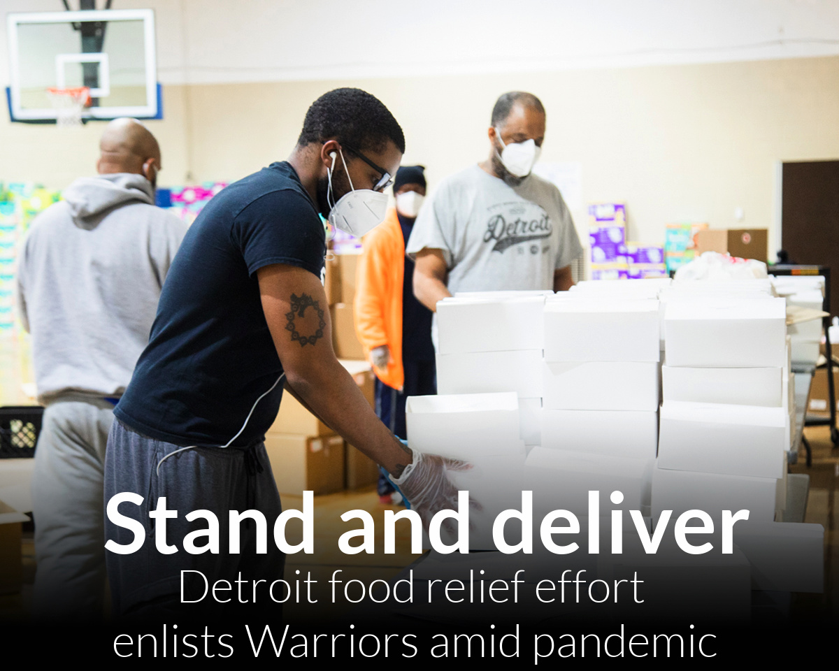 Detroit COVID-19 Food Delivery program enlists Warriors