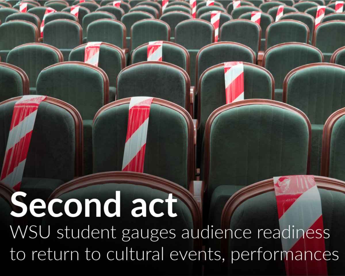 Theatre management student works on study to help theatres, art centers and cultural organizations understand audience readiness to return