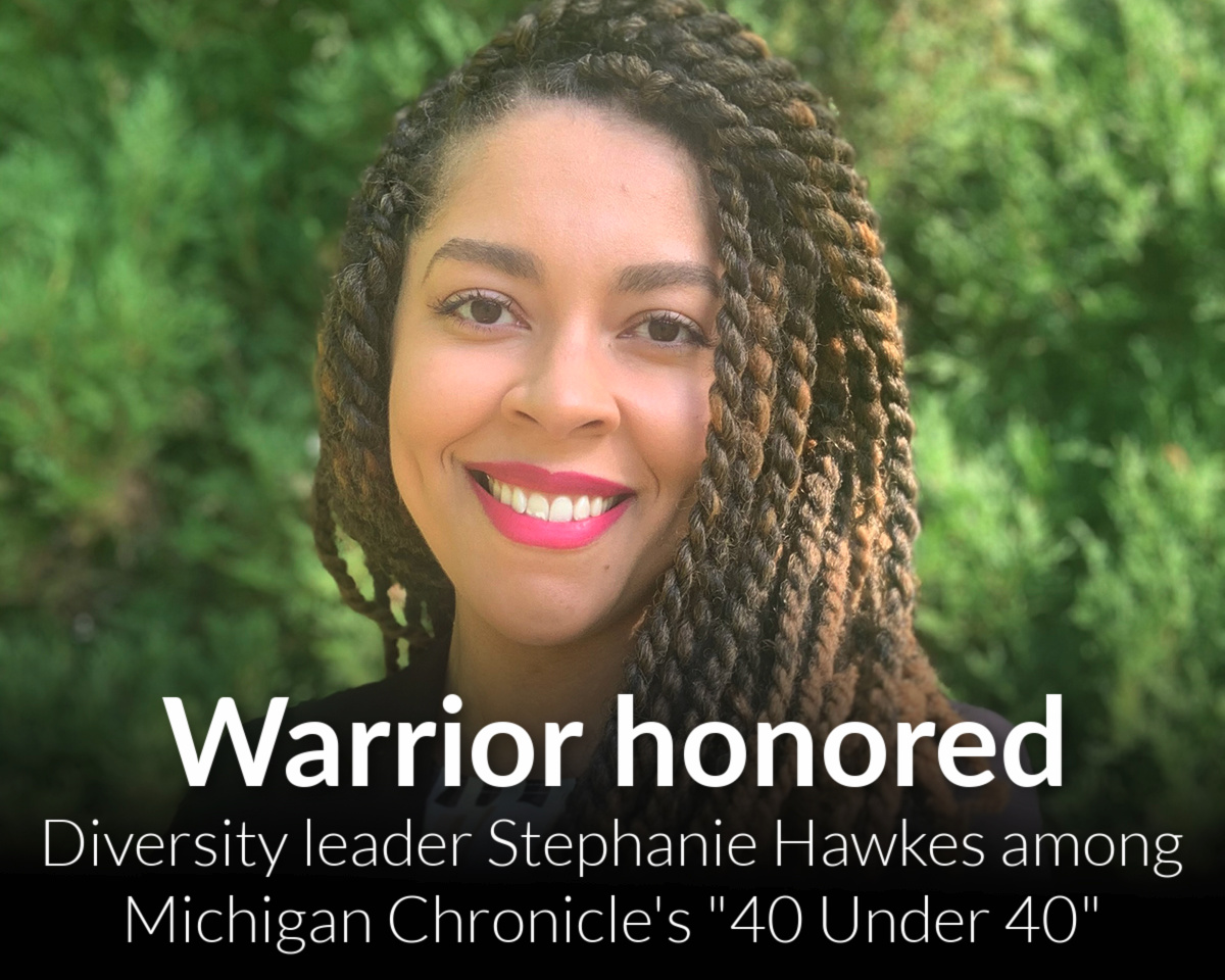 WSU faculty member Stephanie Hawkes, Ph.D., named to Michigan Chronicle 40 Under 40 list