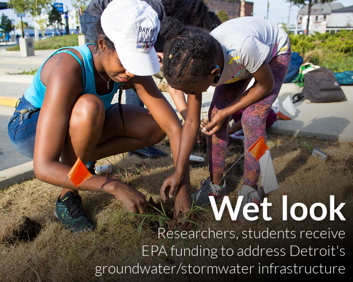 Wayne State researchers and students receive EPA funding to understand Detroit's unique groundwater/stormwater interface