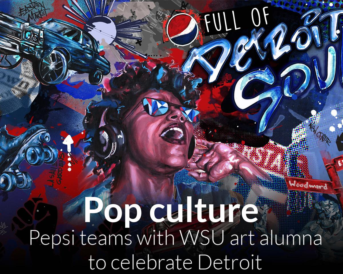 Desire Kelly, Pepsi team up to showcase Detroiter's art