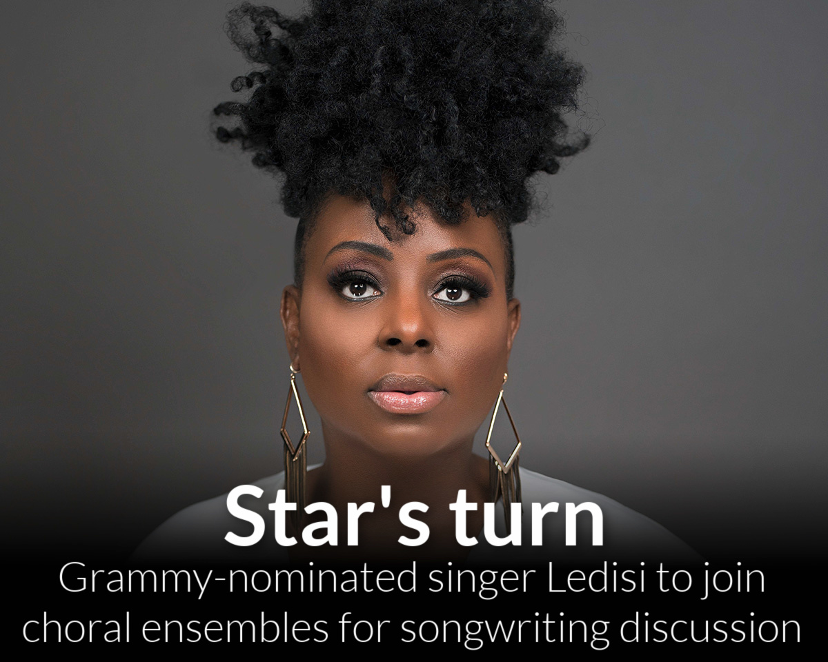 Grammy-nominated singer-songwriter Ledisi joins Department of Music's choral experience Wayne Redefined