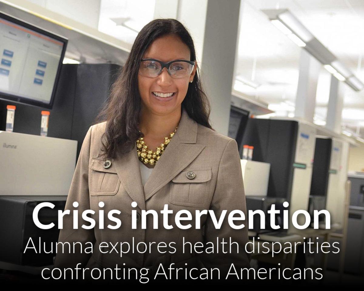 Alum explores health disparities in African Americans, how to intervene