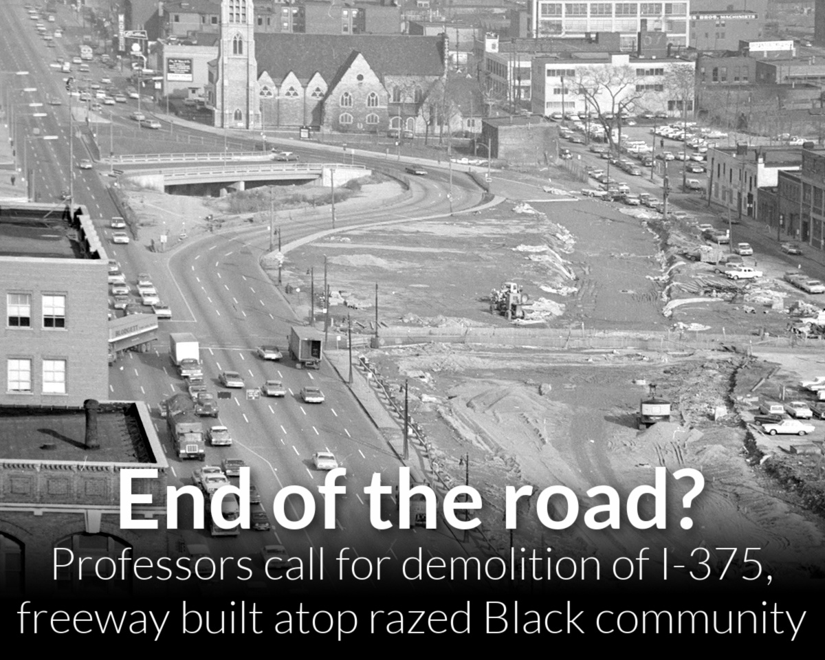 Letter: Demolish I-375 and replace it with opportunity