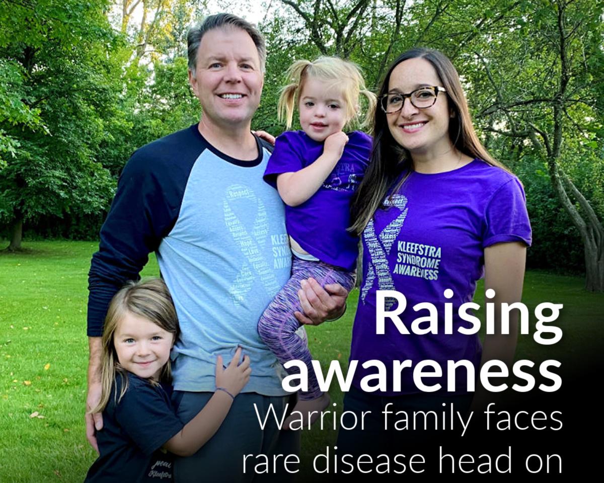 Warrior family faces rare disease head on
