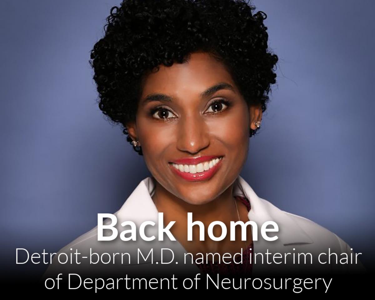 Sonia Eden, M.D., named interim chair of Department of Neurosurgery.