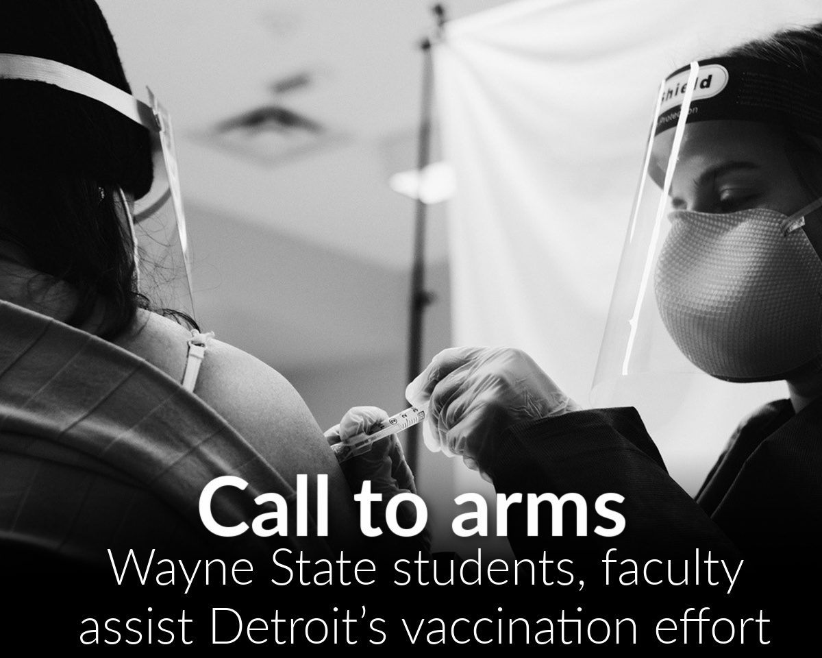 Students, faculty assist Detroit's vaccination effort