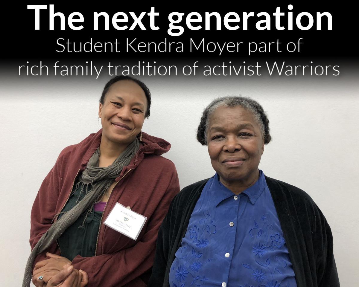 Student Kendra Moyer has deep roots at Wayne State