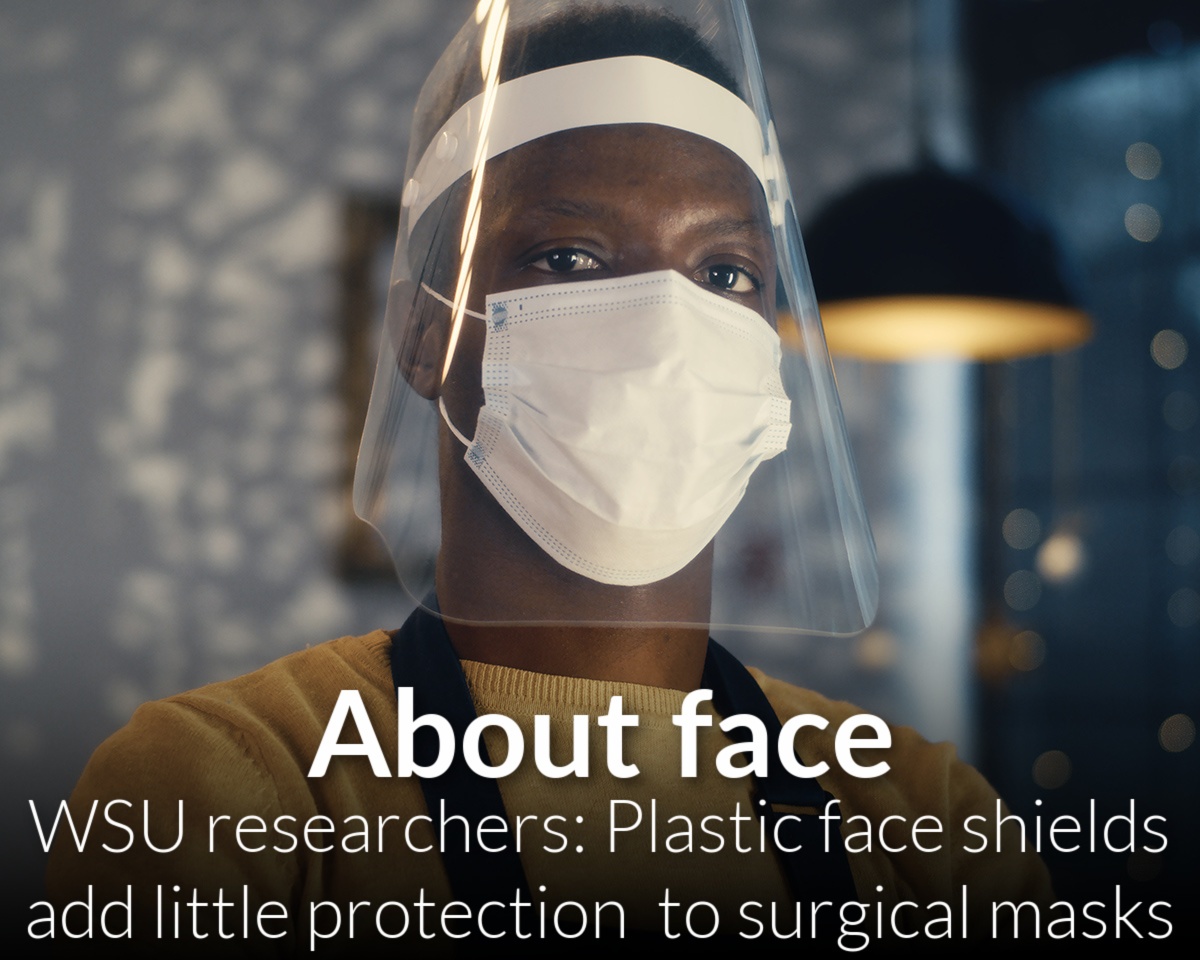 Plastic face shields add little protection to face masks, study finds