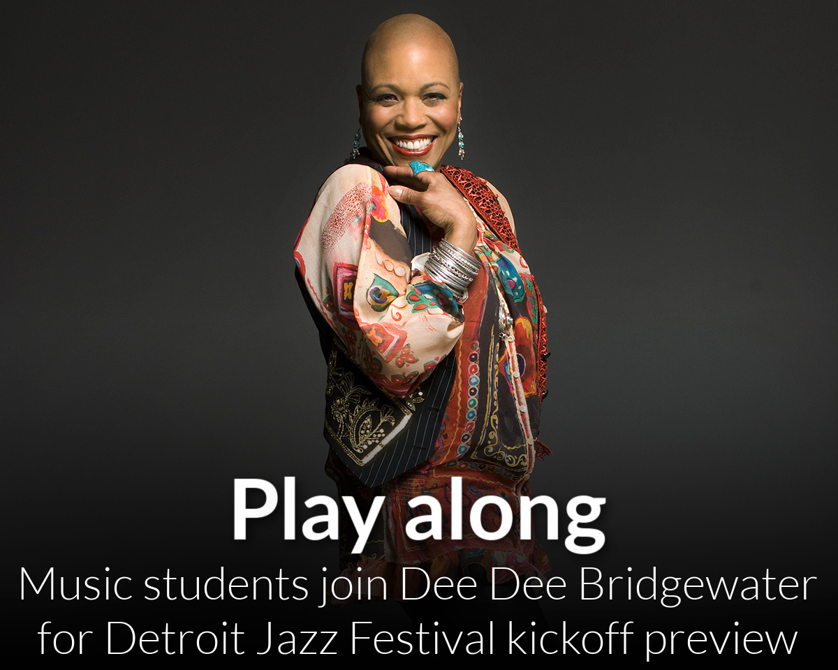 WSU students join Dee Dee Bridgewater as Detroit Jazz Festival kicks off with livestream preview event on April 7th