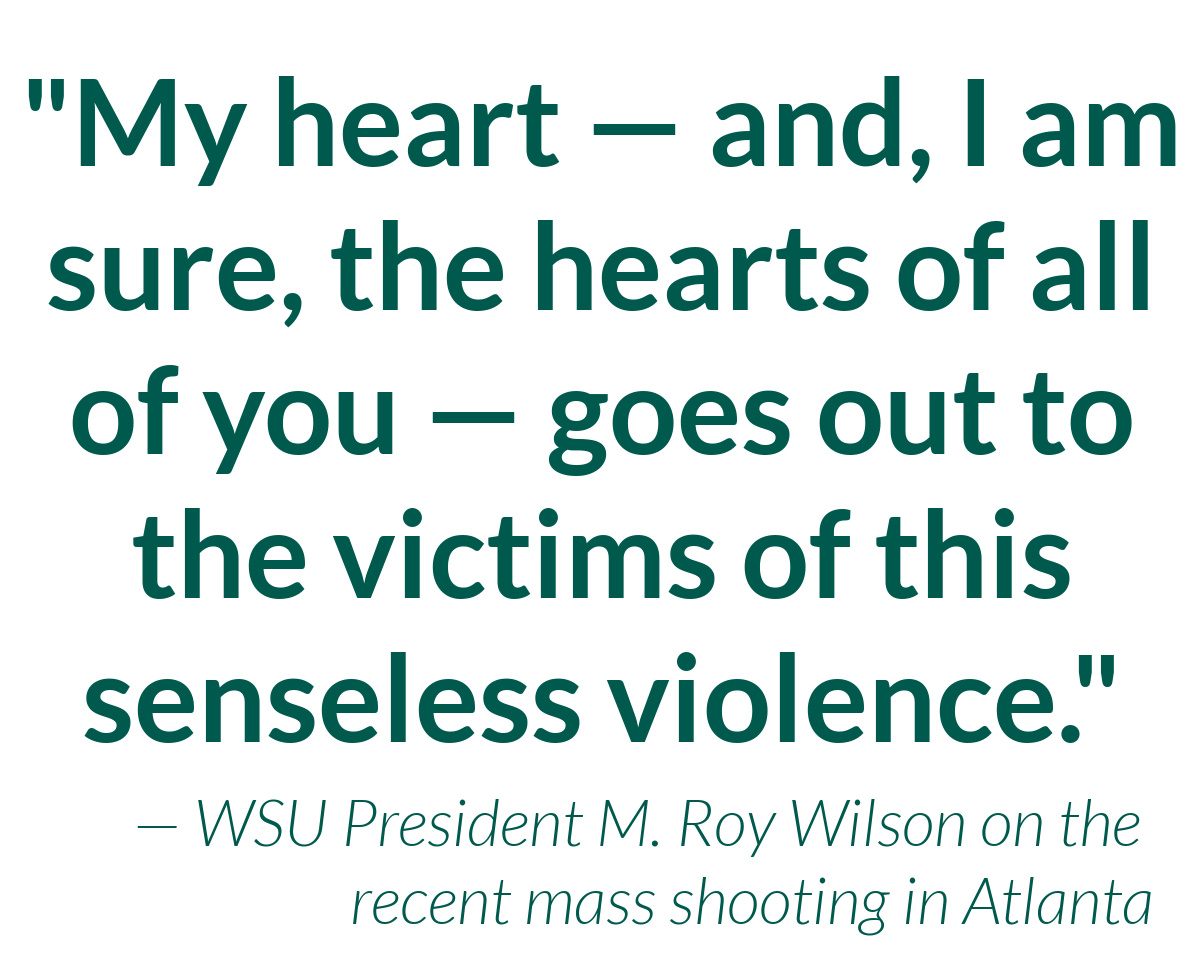 President Wilson issues statement on anti-Asian violence