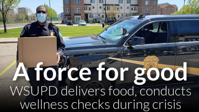 WSUPD conducts senior wellness checks, delivers food during COVID-19 pandemic