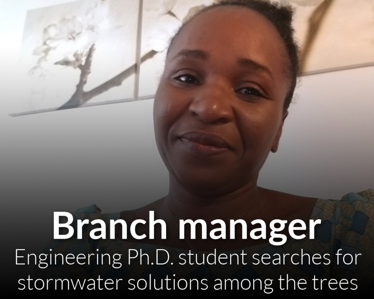 Answers in the trees: Nigerian engineering Ph.D. student searches for stormwater solutions