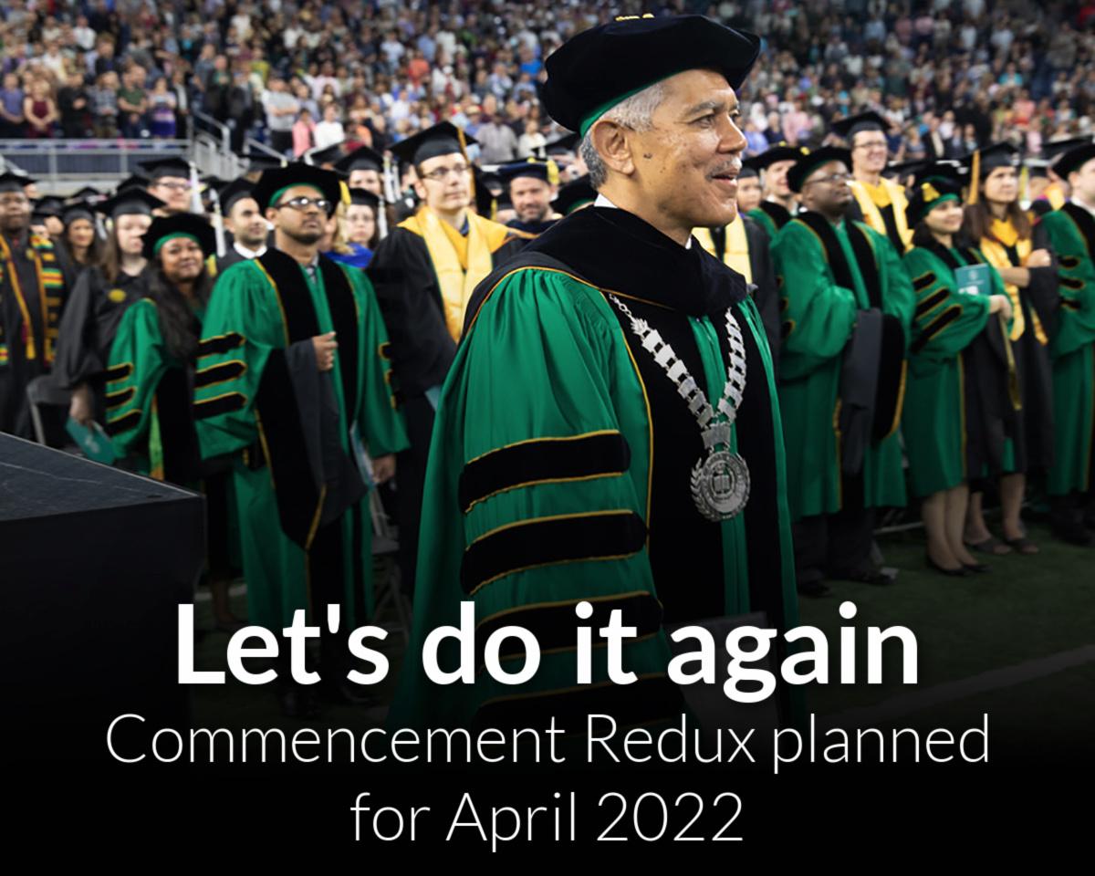 Commencement Redux planned for April 2022